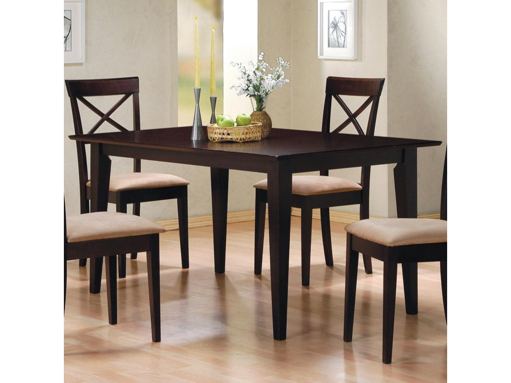 Mix & Match Rectangle Leg Dining Table by Coaster at Value City Furniture