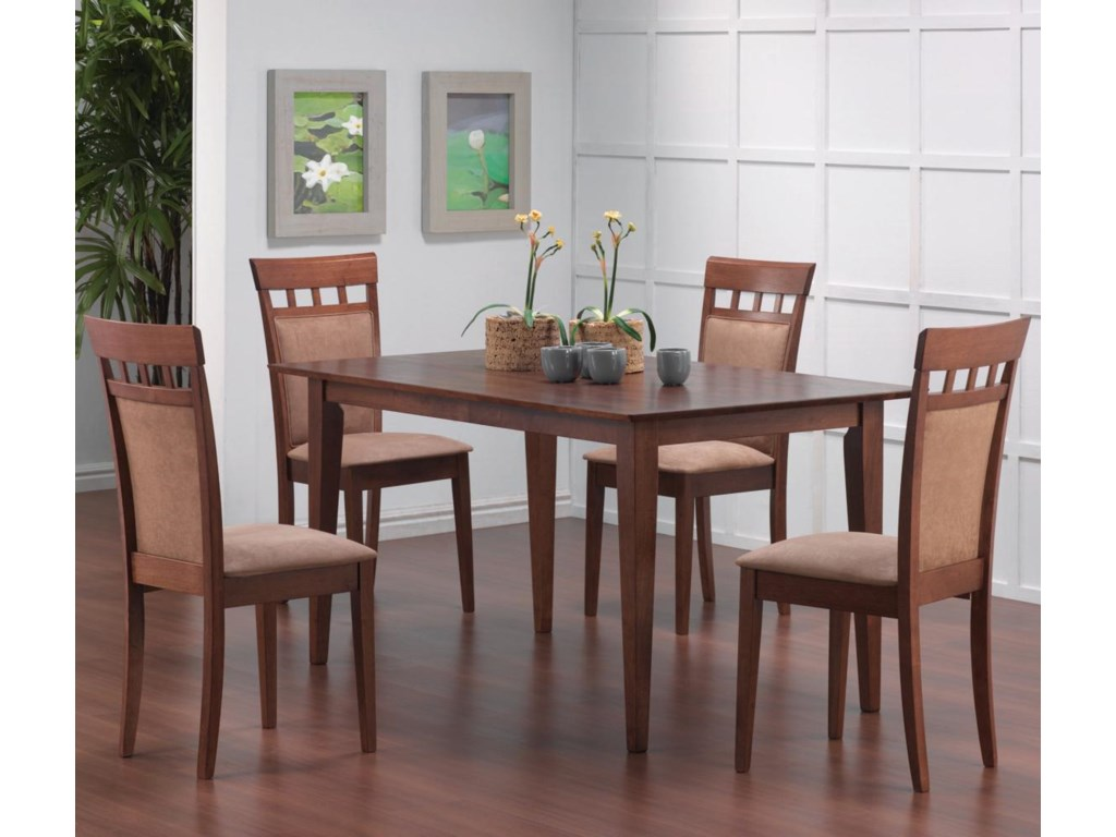 Shown with Cushion Back Dining Chairs