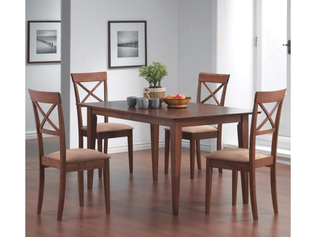 Shown with Cross Back Dining Chairs