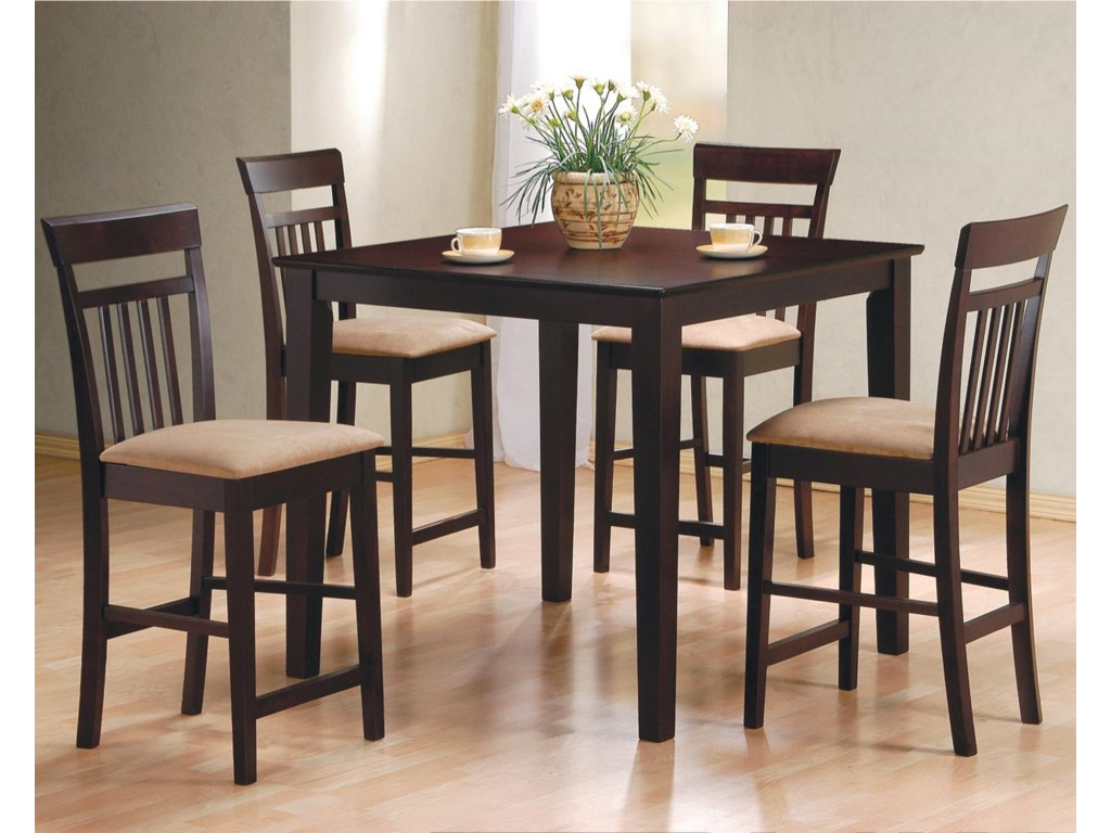 Mix & Match 5 Piece Counter Height Dining Set by Coaster at Furniture  Superstore - Rochester, MN