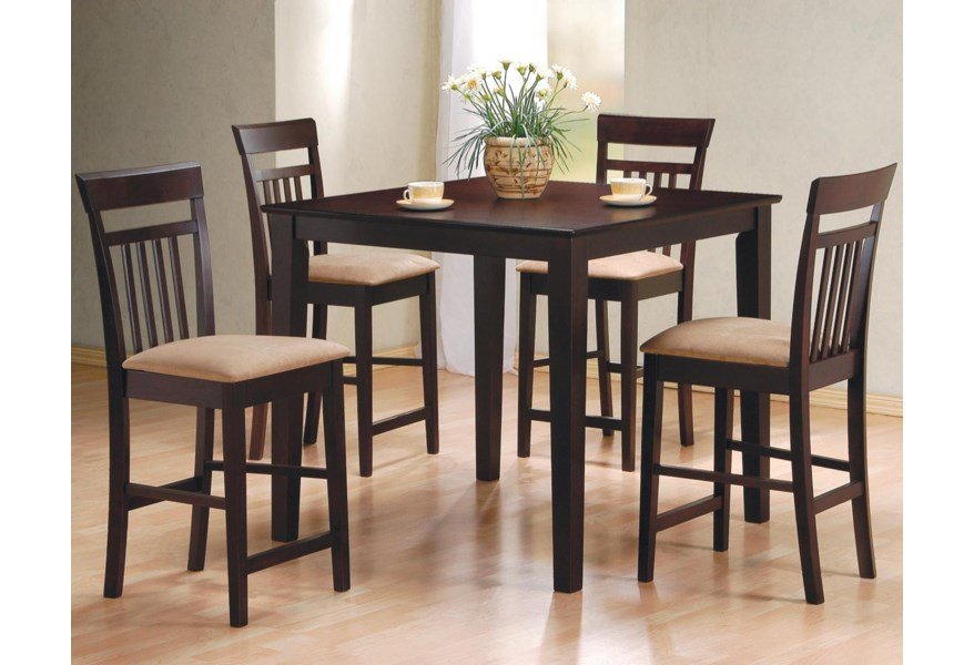 Mix & Match 5 Piece Counter Height Dining Set by Coaster at Dunk & Bright  Furniture