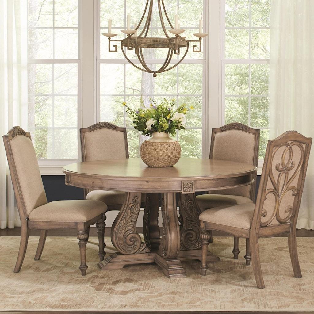 Coaster ilanaround dining table