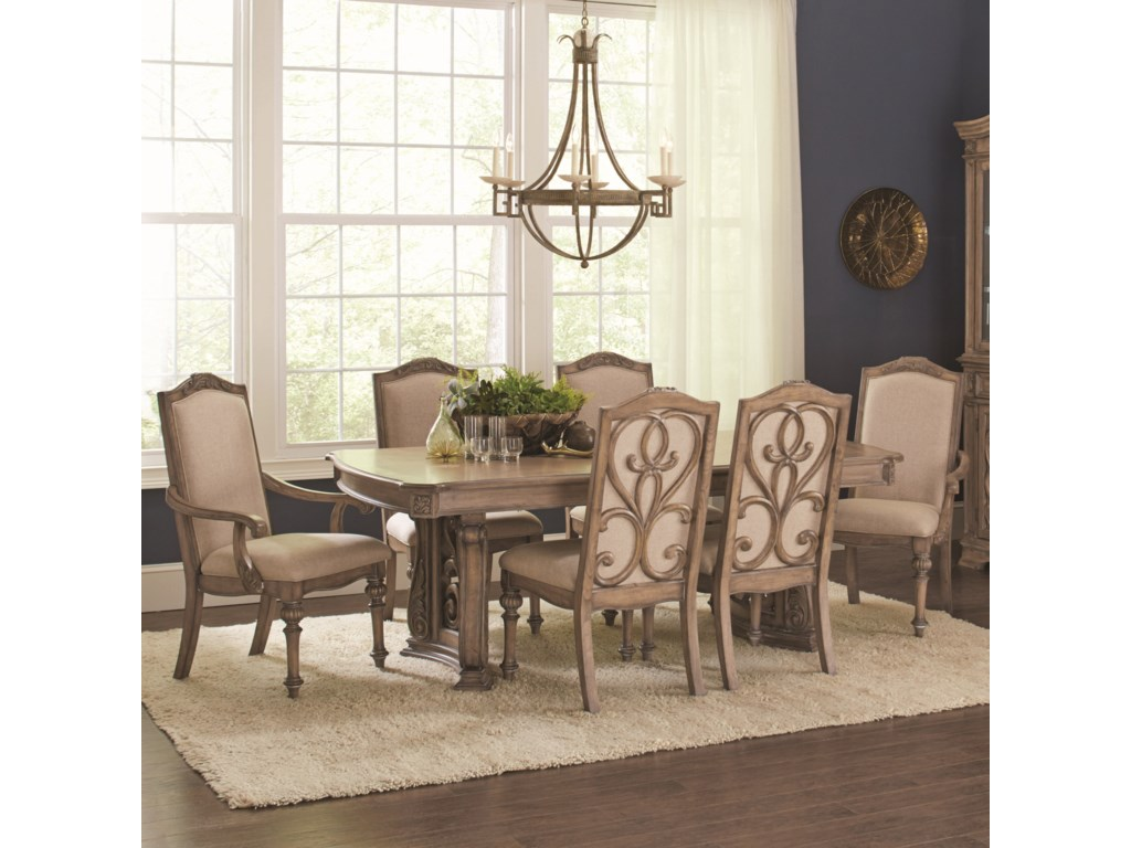Coaster Ilana7 Piece Table and Chair Set