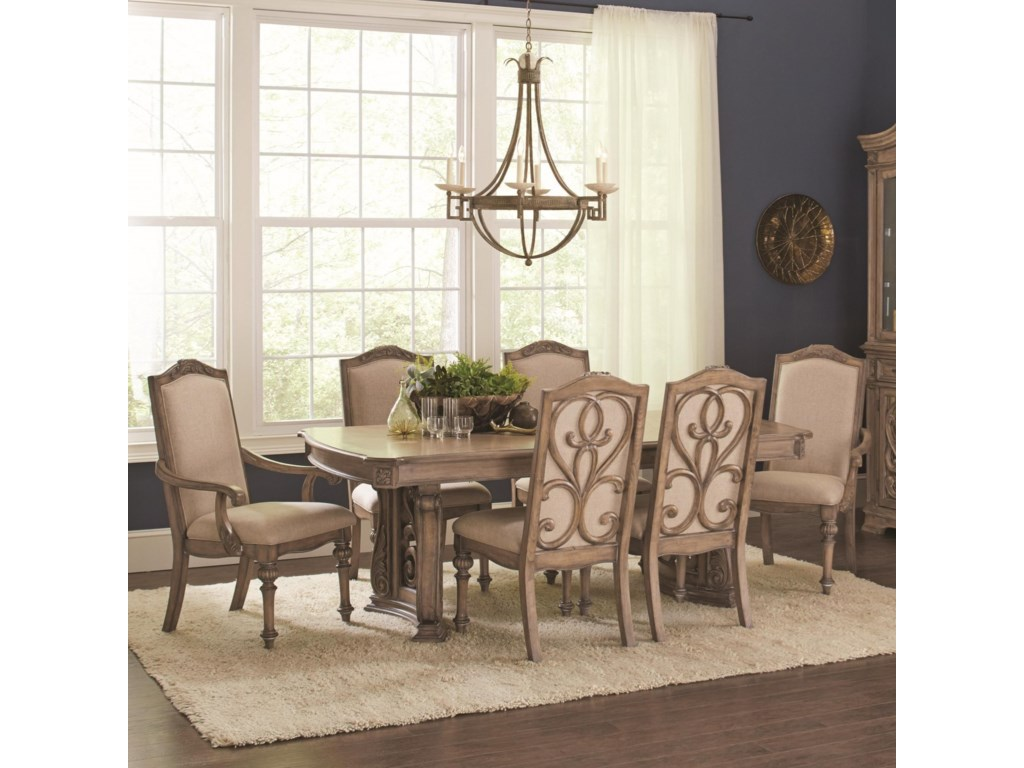 dining outlet in by florence coaster double osmond rooms rectangular natural pedestal donny table home