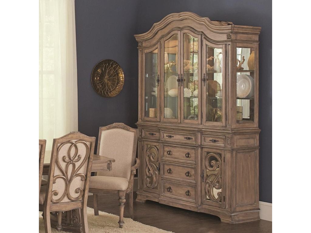 Coaster IlanaChina Cabinet; Coaster IlanaChina Cabinet - Coaster Ilana Traditional China Cabinet With Glass Doors Sadler's