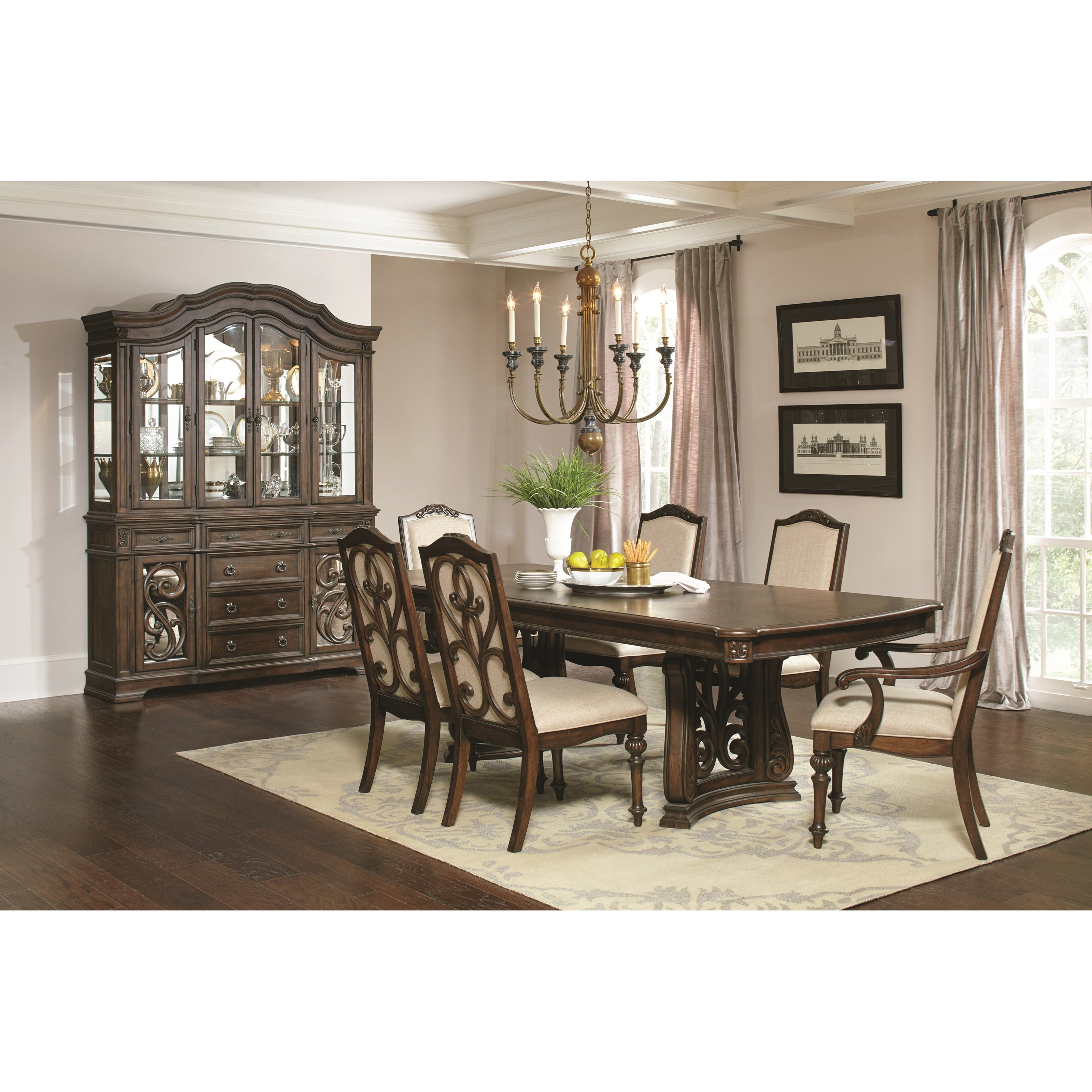 coaster ilana formal dining room group del sol furniture formal rh delsolfurniture com pictures of decorated formal dining rooms