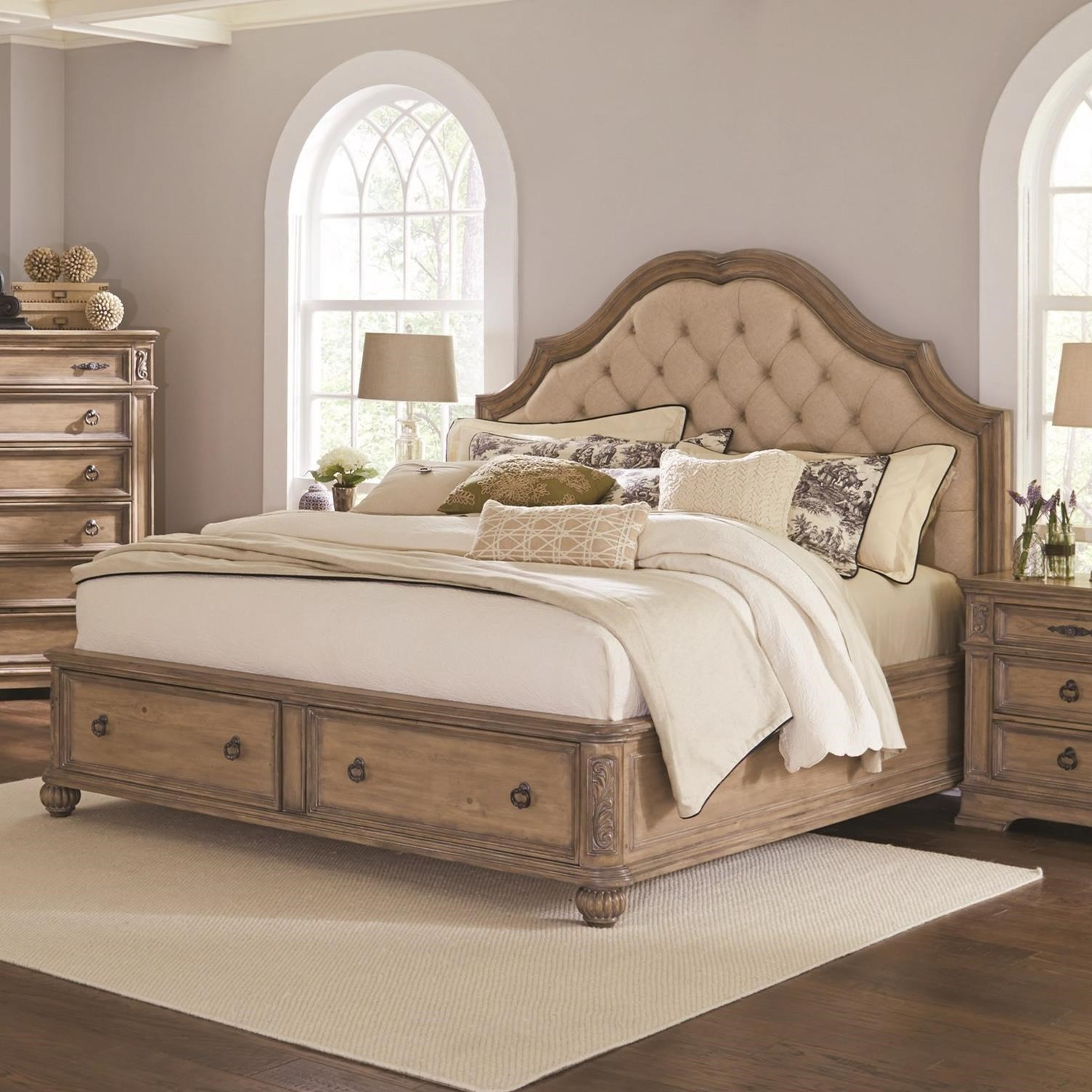 Coaster Ilana King Storage Bed With Upholstered Headboard