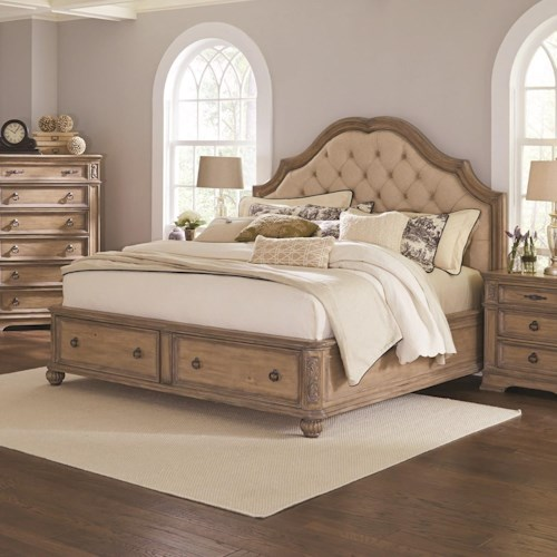 Coaster Ilana Queen Storage Bed with Upholstered Headboard