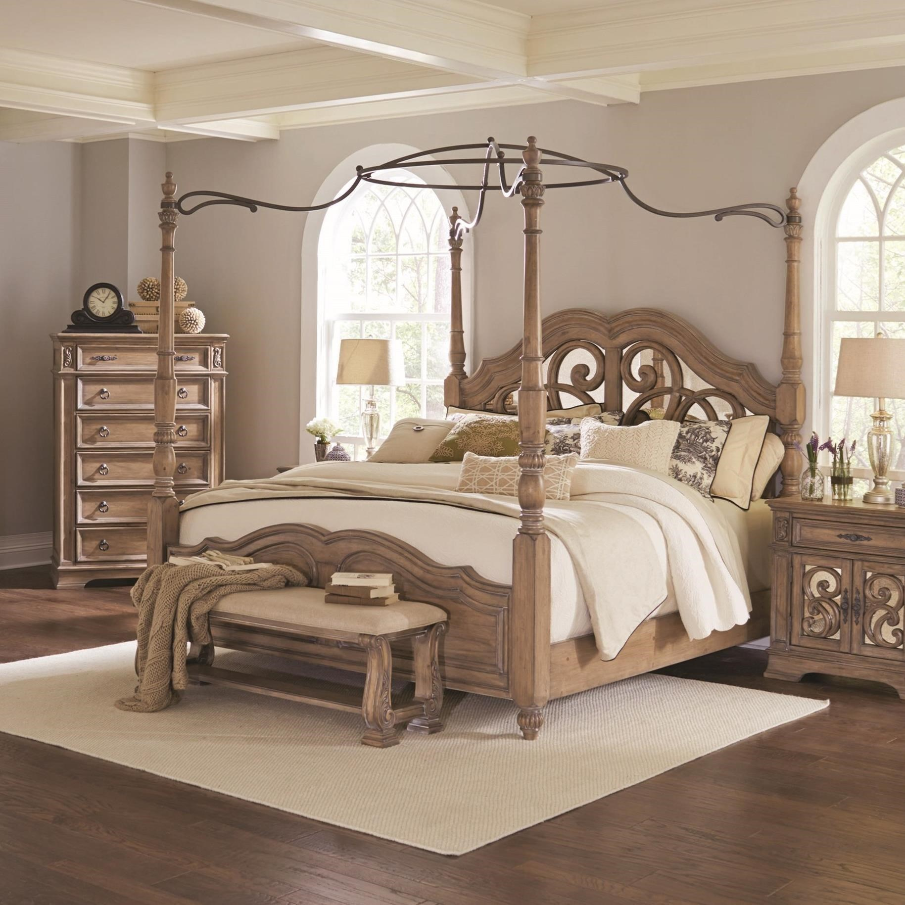 Beds Coaster Ilana Queen Canopy Bed