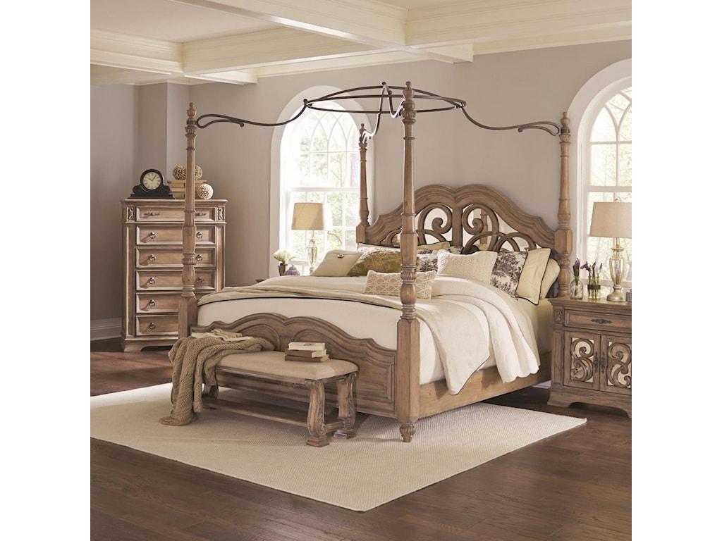 Coaster IlanaQueen Canopy Bed