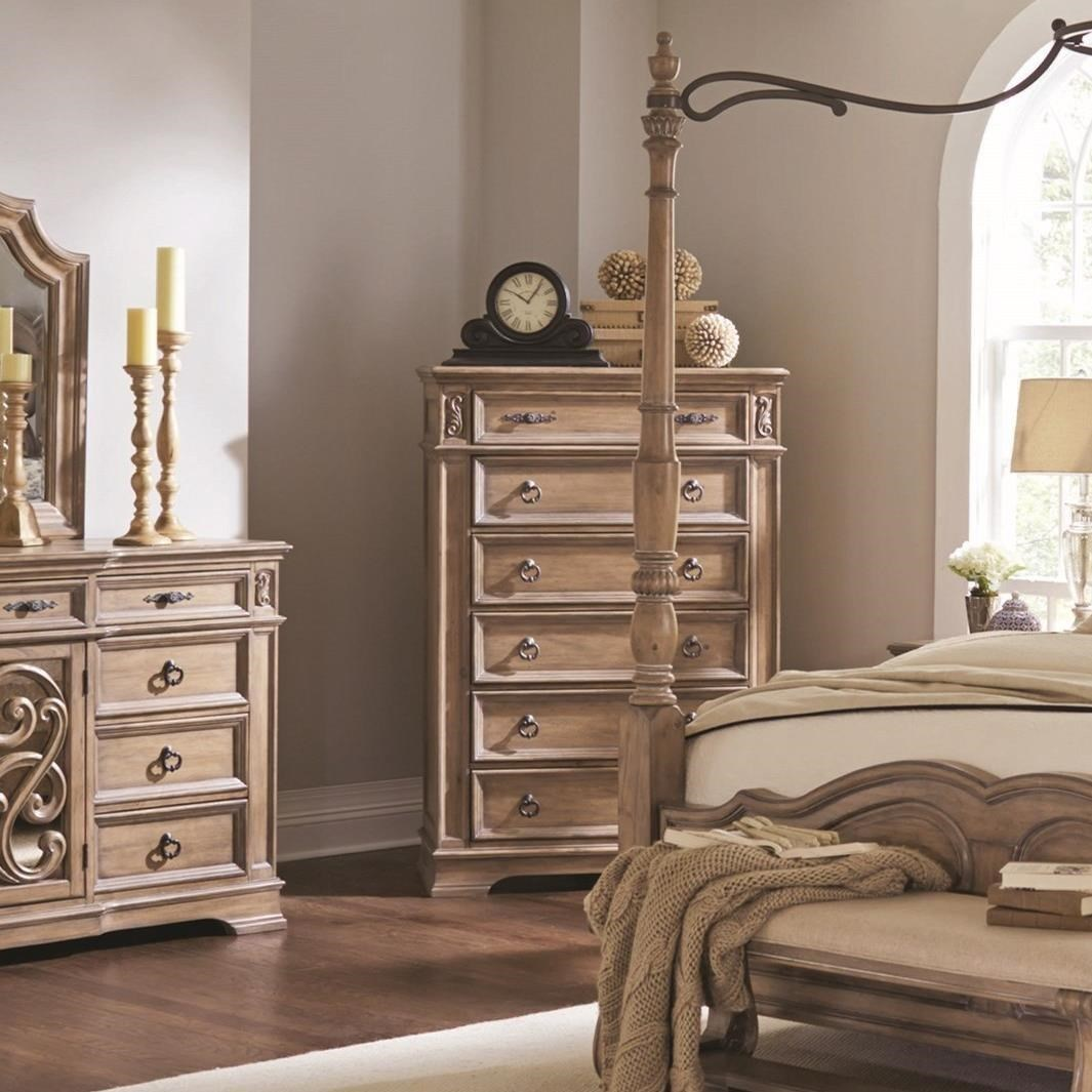 6 Drawer Chest with Top Felt-Lined Drawer