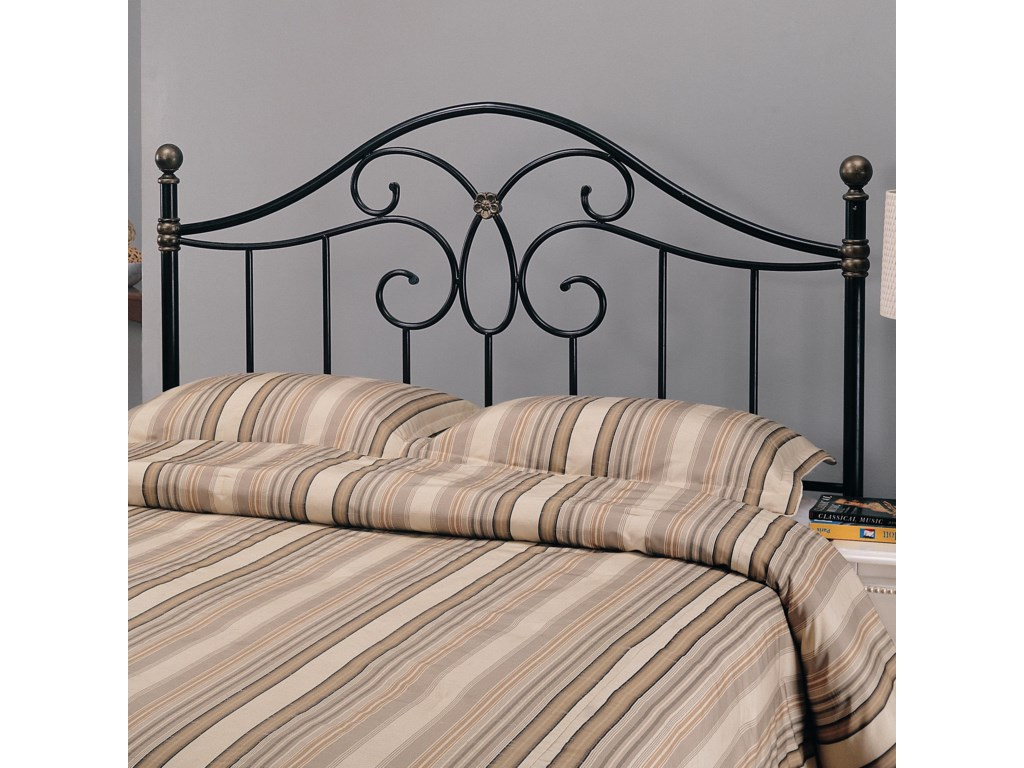 3cc6a84c53f1ef Coaster Iron Beds and Headboards Full/Queen Black Metal Headboard ...