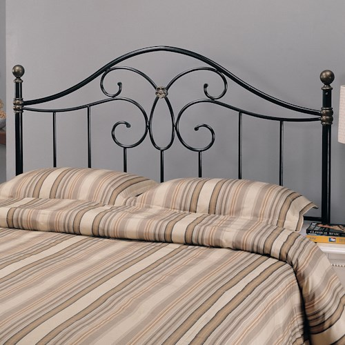 complete fashion beds posts scalloped arched wrought brown bedroom dynasty b headboards depot metal panels furniture home compressed finial iron group with n king and size autumn bed the