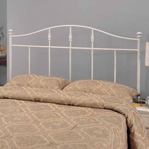 Coaster Iron Beds and Headboards Twin Cottage White Metal Headboard