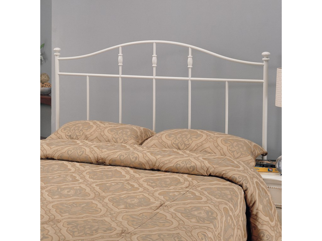 88487665ecd800 Iron Beds and Headboards Full/Queen Cottage White Metal Headboard by Coaster