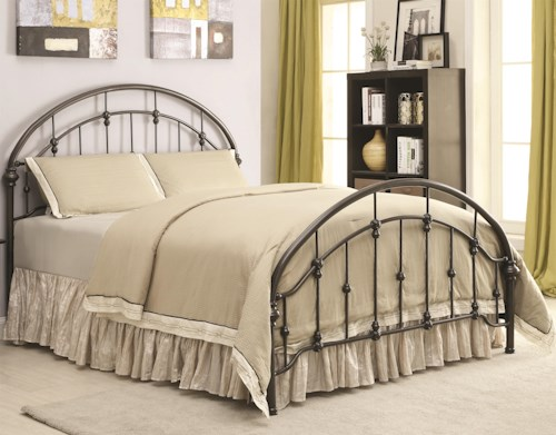 Coaster Iron Beds and Headboards Metal Curved Twin Bed