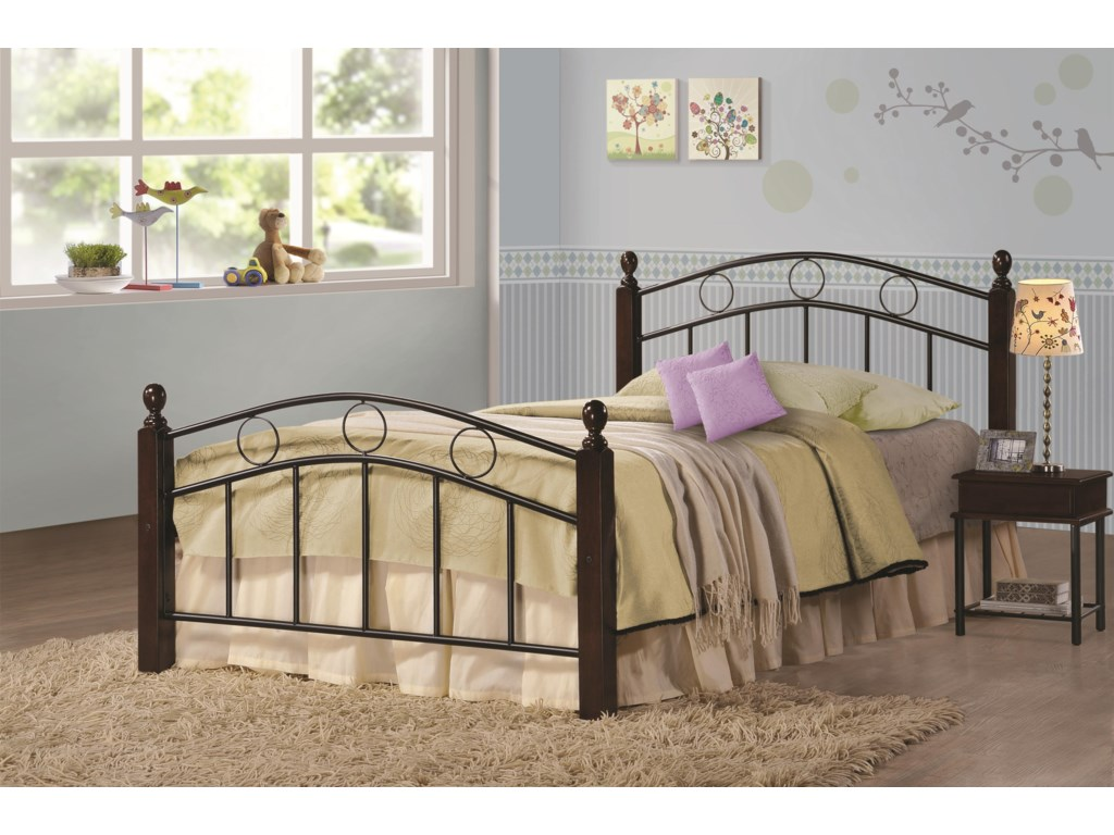 cdfa8a83c60e91 Coaster Iron Beds and Headboards Twin Kyan Metal Bed | Prime ...