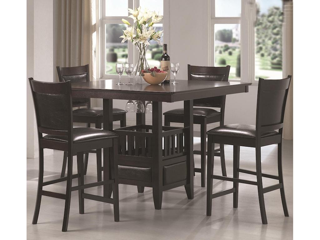 Coaster jaden square counter height table cushioned stool set coaster jadencounter height table stool set watchthetrailerfo