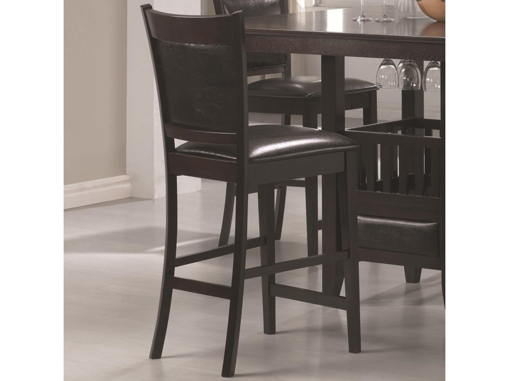 Counter Height Stool with Padded Seats