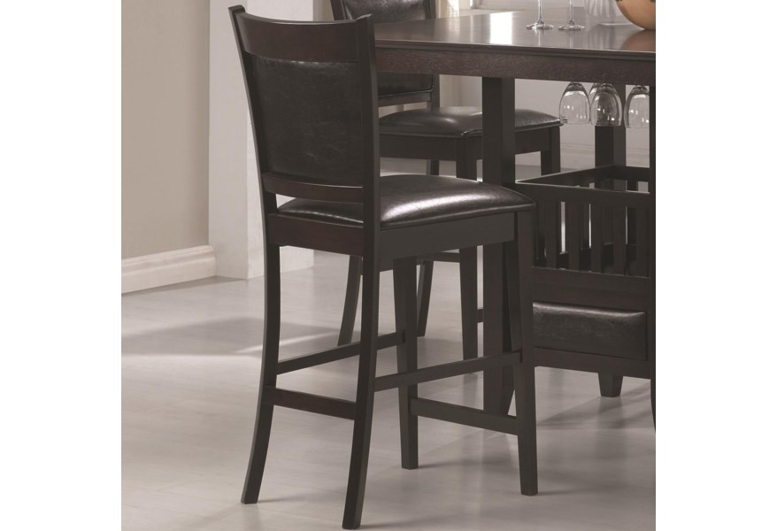 Sensational Jaden Counter Height Stool With Vinyl Padded Seat Back By Coaster At Northeast Factory Direct Gmtry Best Dining Table And Chair Ideas Images Gmtryco