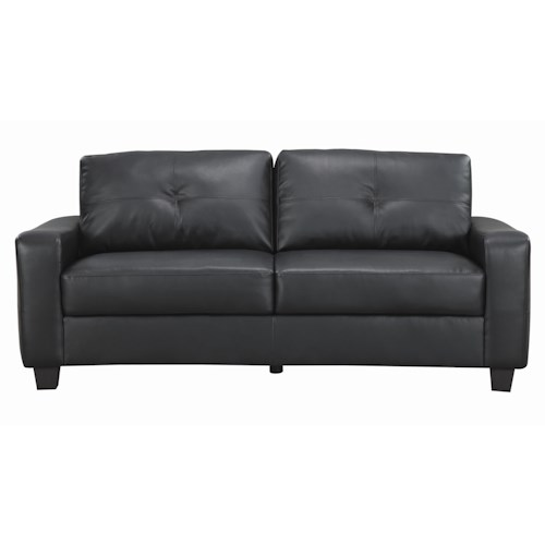 Coaster Jasmine  Bonded Leather Sofa