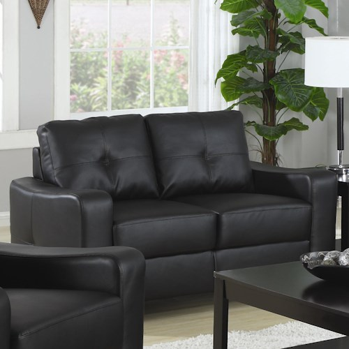 Coaster Jasmine  Bonded Leather Love Seat