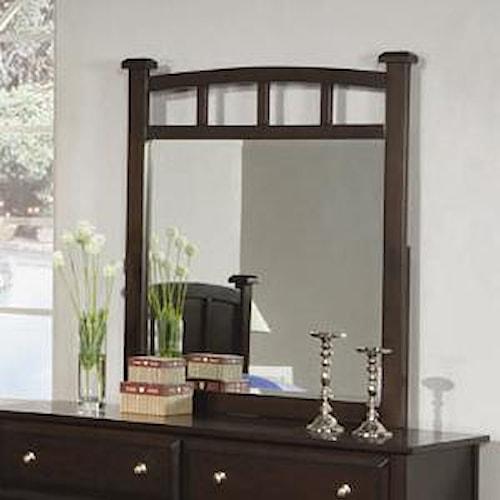 Coaster Jasper Dresser Mirror with Curved Frame