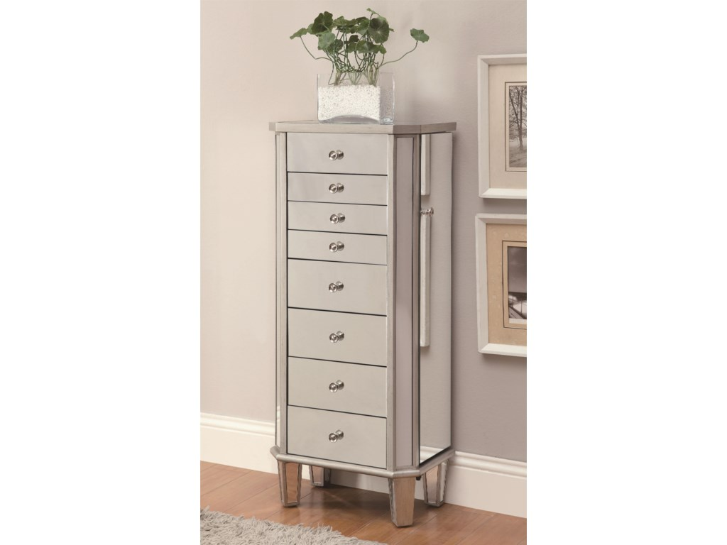 Jewelry Armoires Armoire With Flip Mirror Top By Coaster
