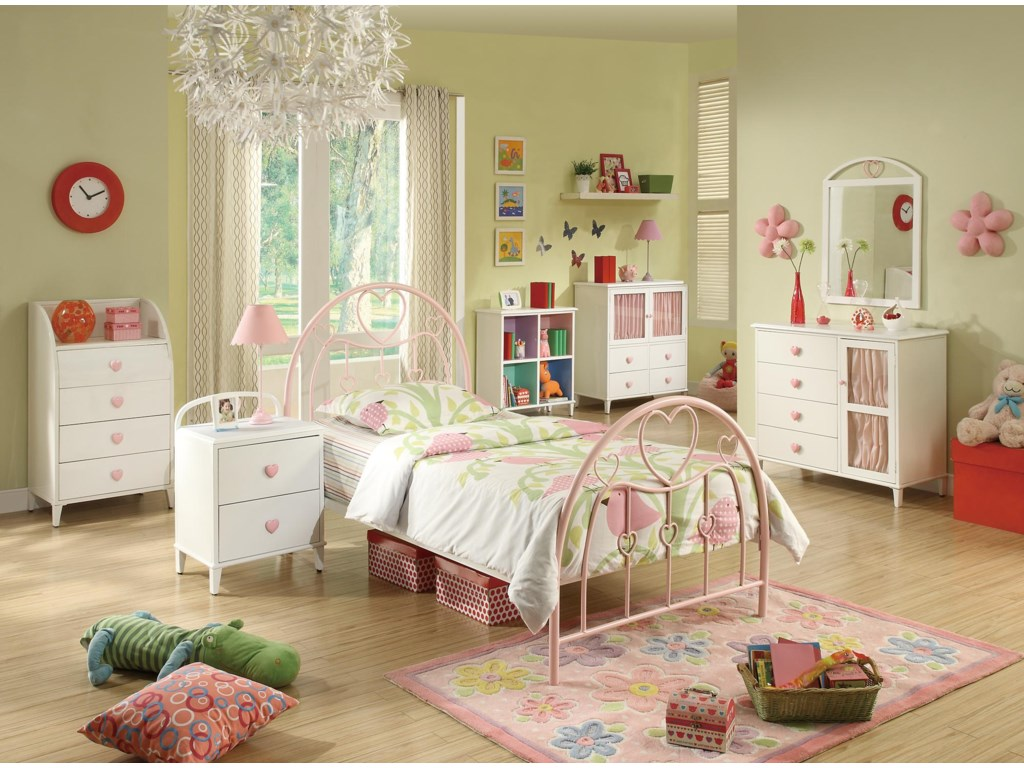 Shown with Nightstand, Dresser and Door, Mirror, Bookcase, Chest with Shelf, and Chest with Doors