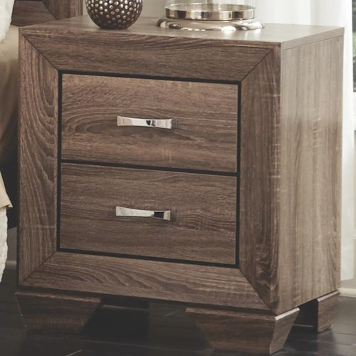 Coaster Kauffman Nightstand with 2 Drawers and Tapered Feet