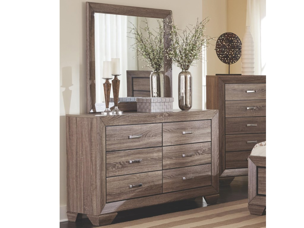 Kauffman Dresser With 6 Drawerirror Set By Coaster