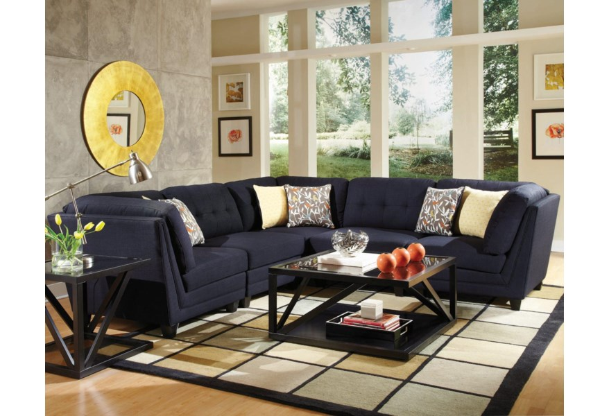 the latest 72aea 9dbea Keaton Transitional Five Piece Sectional Sofa with Tufting by Coaster at  Standard Furniture