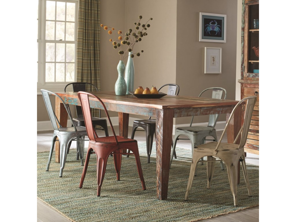 Coaster Keller7 Piece Table and Chair Set
