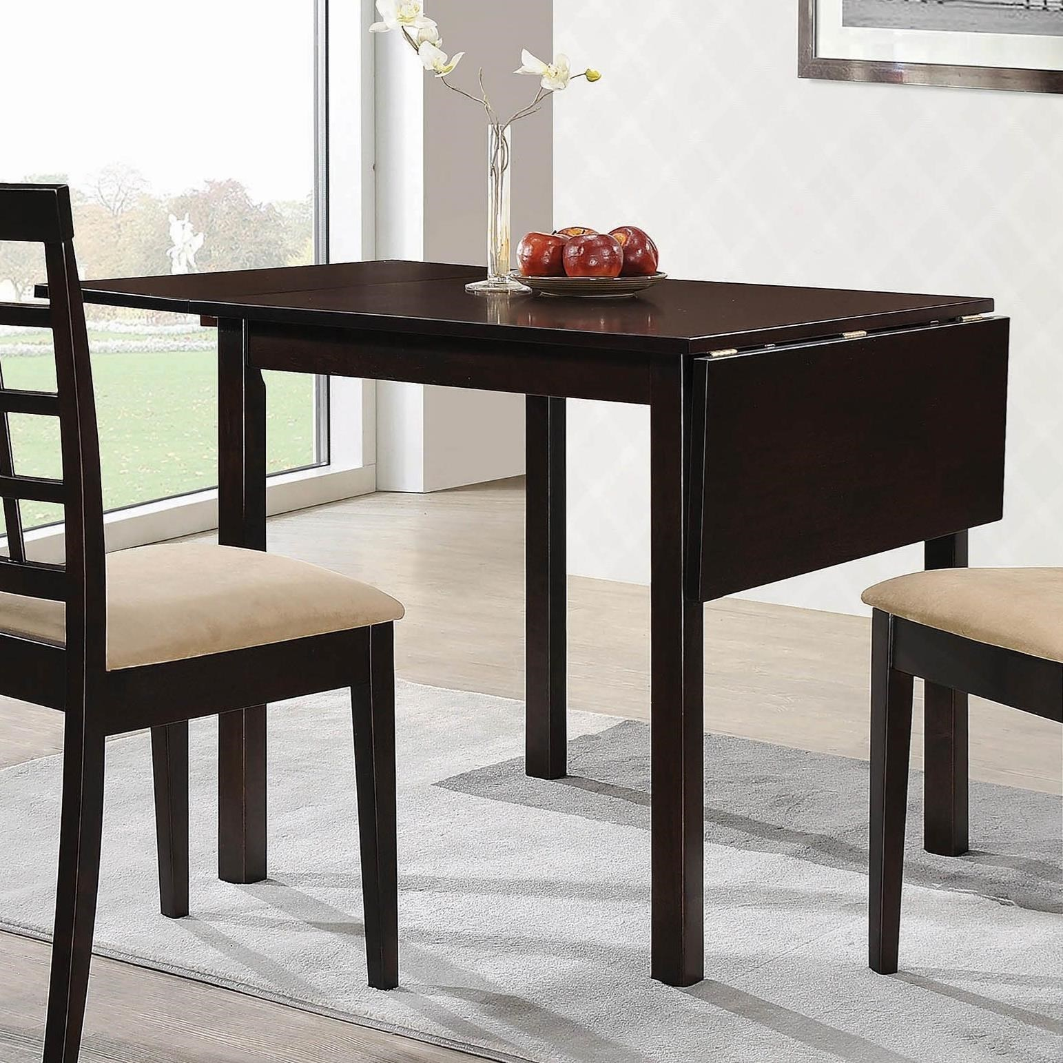 Kelso Transitional Dining Table With Drop Leaf By Coaster