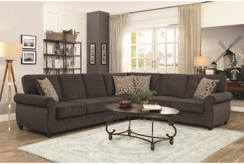 Coaster Kendrick Sectional with Memory Foam Sleeper