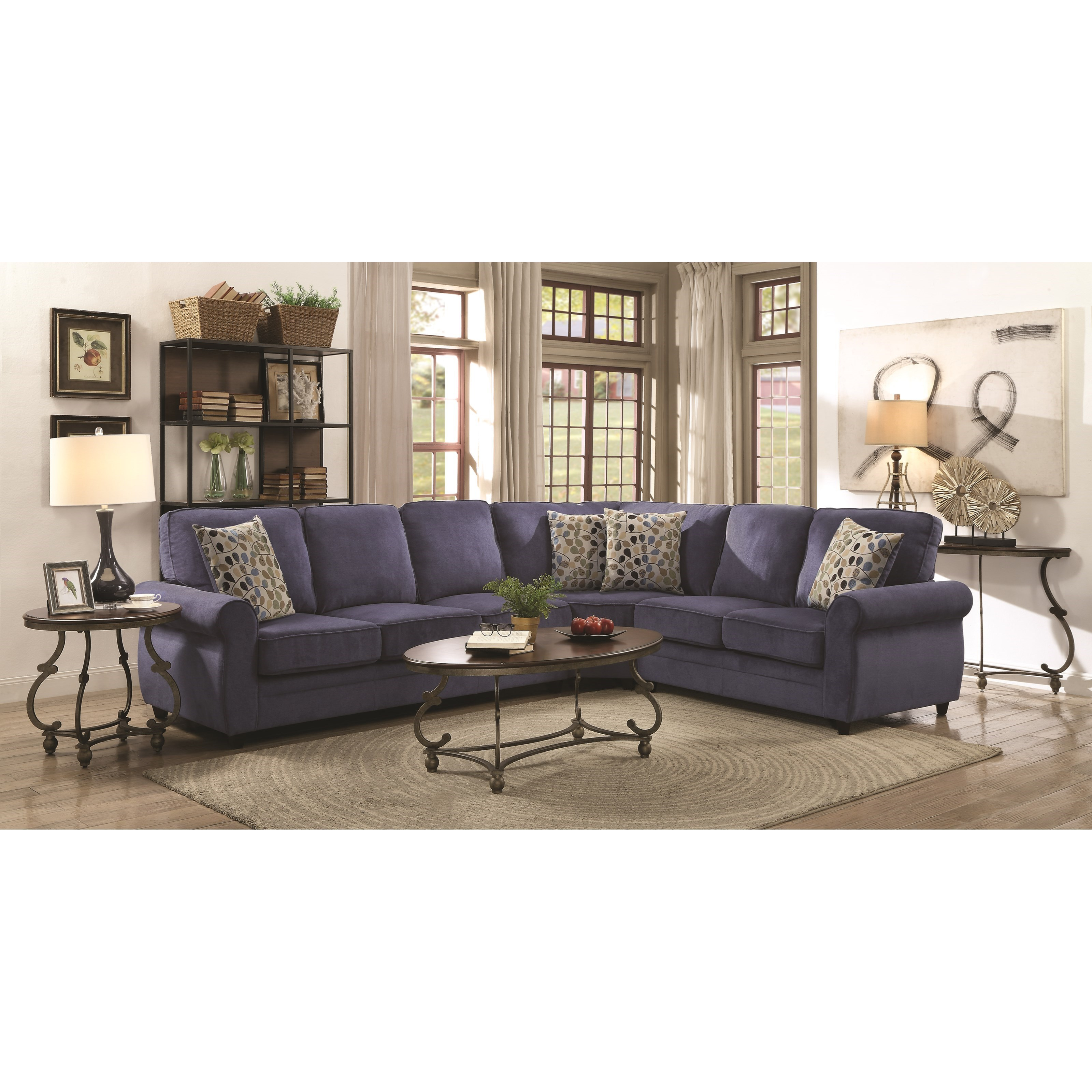 Coaster Kendrick 501545 Sectional With Memory Foam Sleeper   Miller Home   Sectional  Sofas