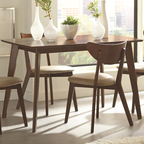 Coaster Kersey Dining Table with Angled Legs
