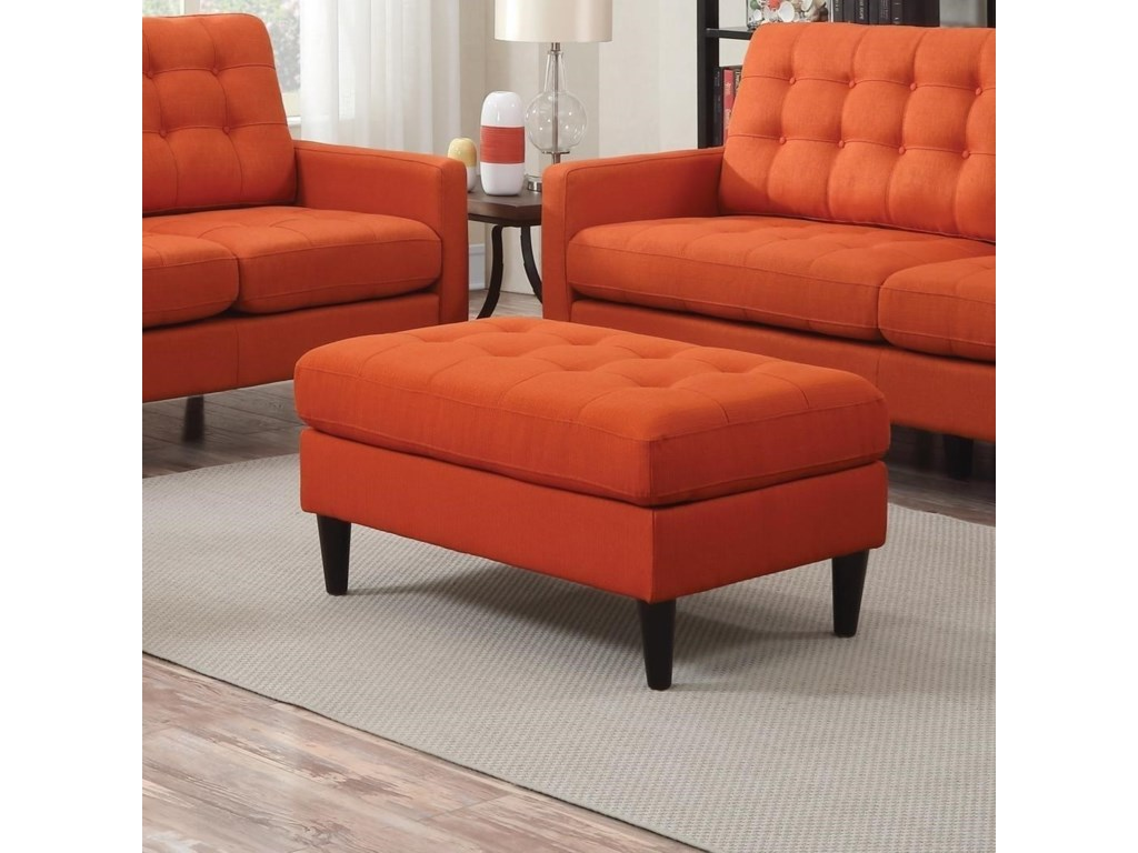 Furniture upholstery group bay city saginaw - Coaster Kesson Mid Century Ottoman With Button Tufting Prime Brothers Furniture Ottomans