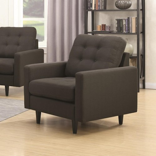 Coaster Kesson Upholstered Chair with Mid-Century Modern Design