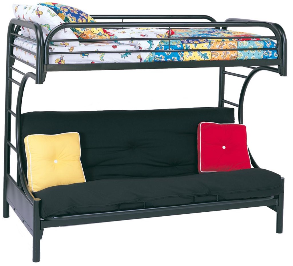 Coaster Metal Beds 2253k C Style Twin Over Full Futon Bunk Bed
