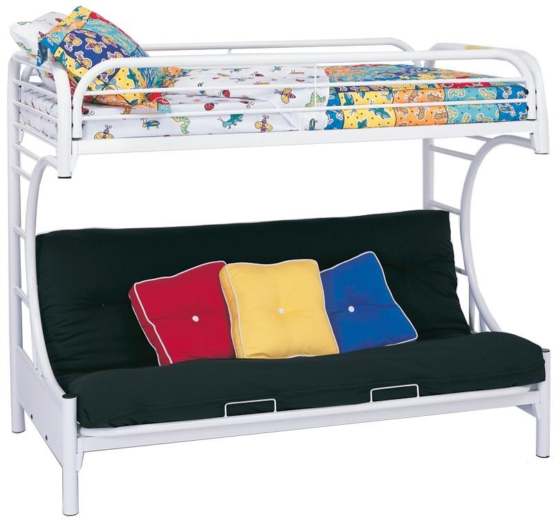 Coaster Metal Beds C Style Twin Over Full Futon Bunk Bed Value