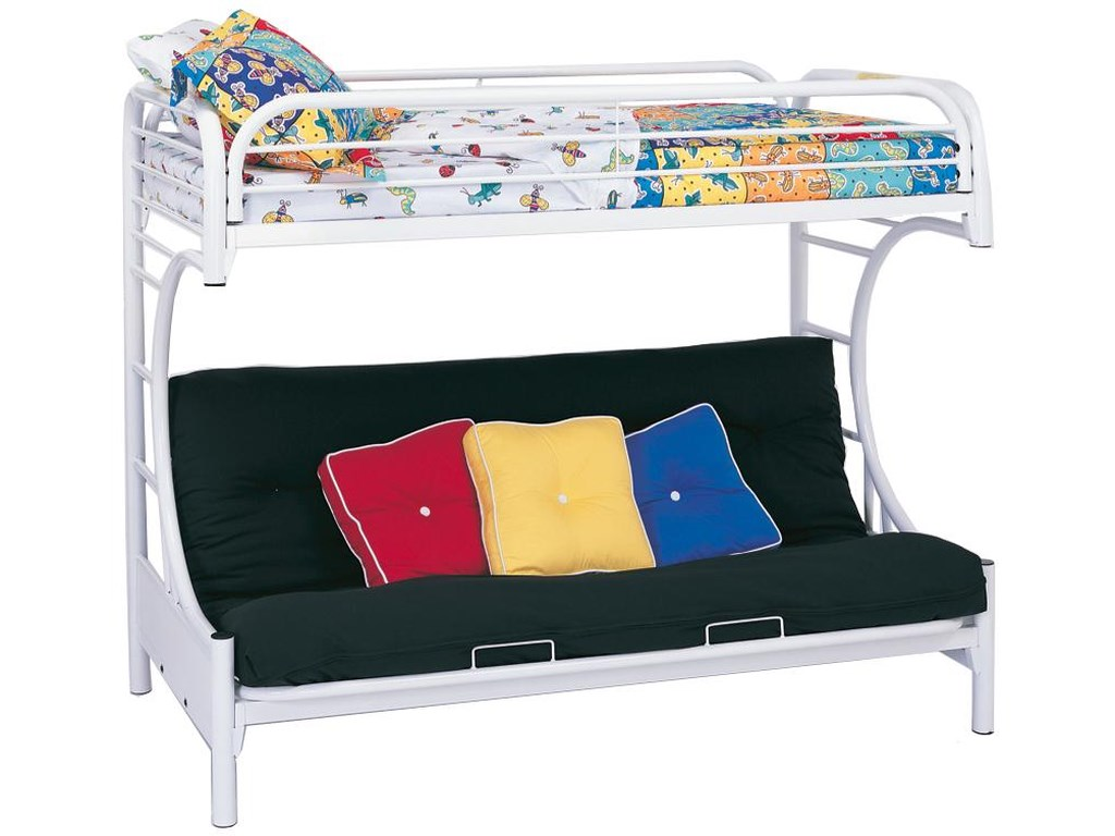 Coaster Metal BedsTwin Over Futon Bunk Bed