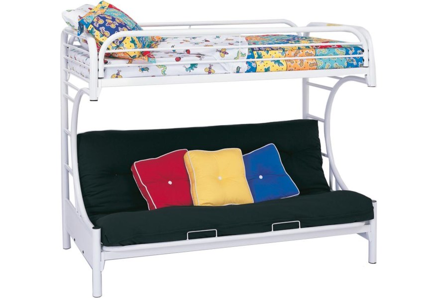 Metal Beds C Style Twin Over Full Futon Bunk Bed By Coaster At Dunk Bright Furniture