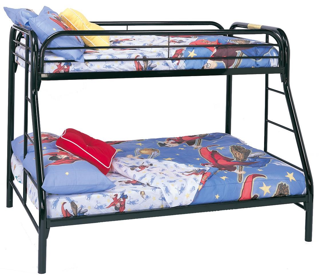 Twin Over Full Bunk Bed Frame Set Kids Furniture Bunkbed Metal Ladder