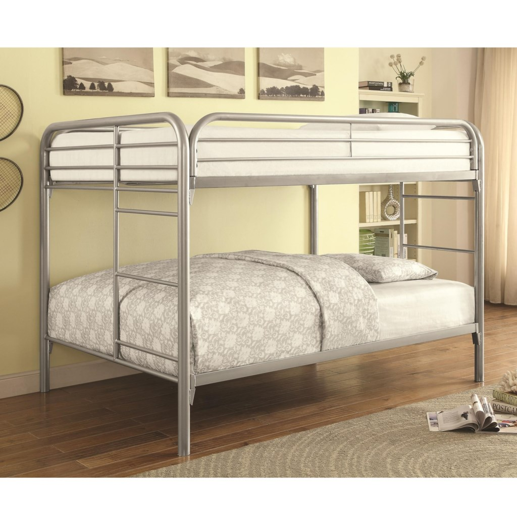 Coaster Metal Beds Full Over Full Bunk Bed Value City Furniture
