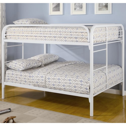 Coaster Metal Beds Full Over Full Bunk Bed