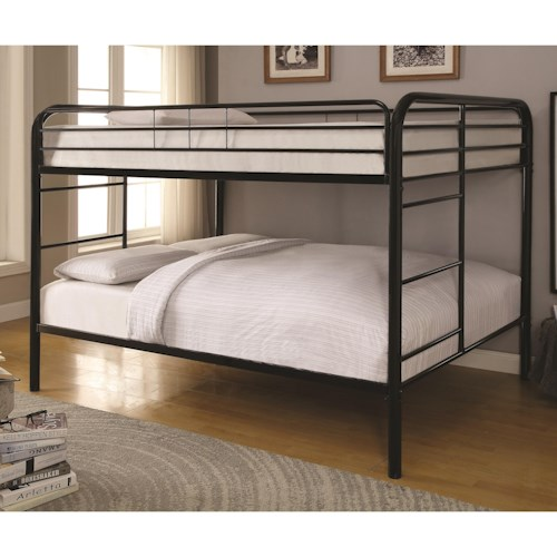 Coaster Metal Beds Full Over Full Bunk Bed Furniture Superstore