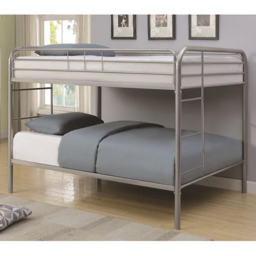 Full Over Full Bunk Bed Metal Beds By Coaster Wilcox Furniture