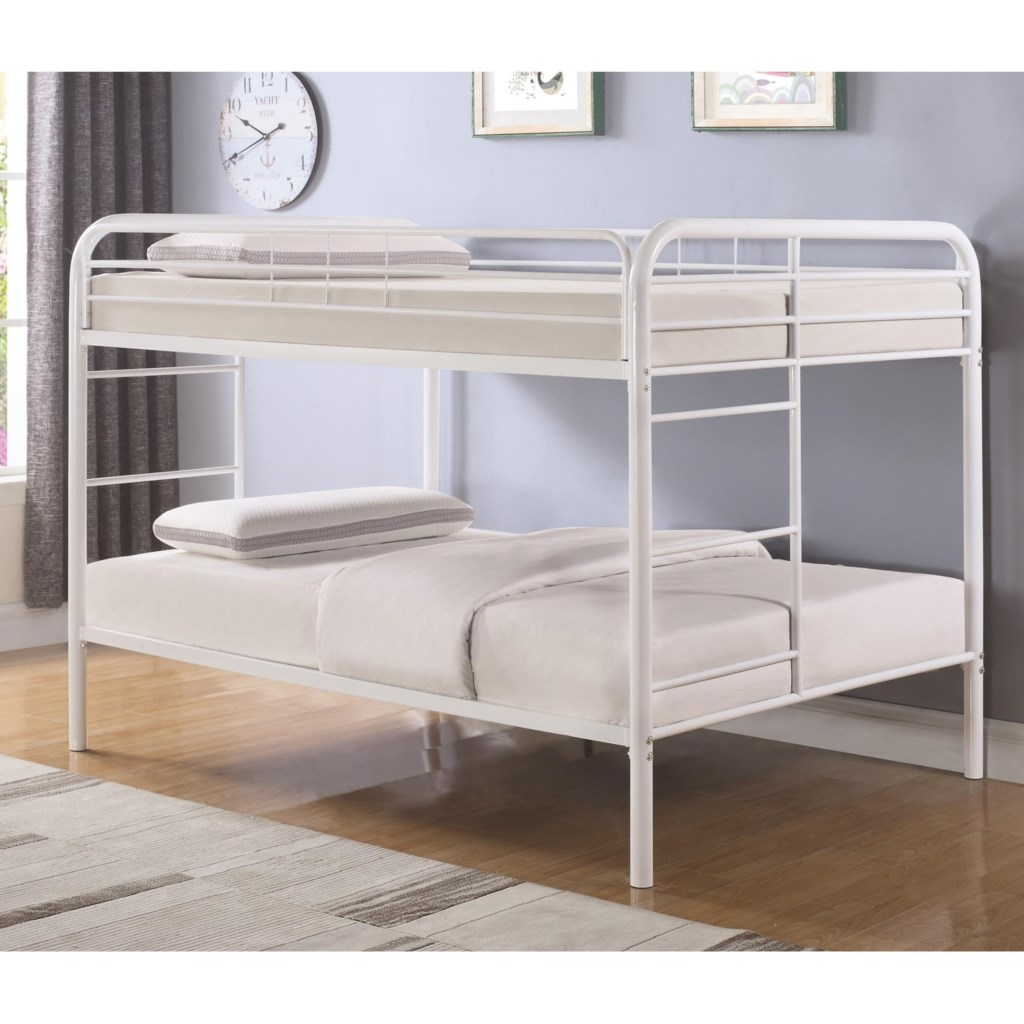 Coaster Metal Beds 460379w Full Over Full Bunk Bed Dunk Bright