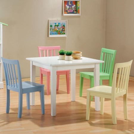 5 Piece Youth Table and Chair Set